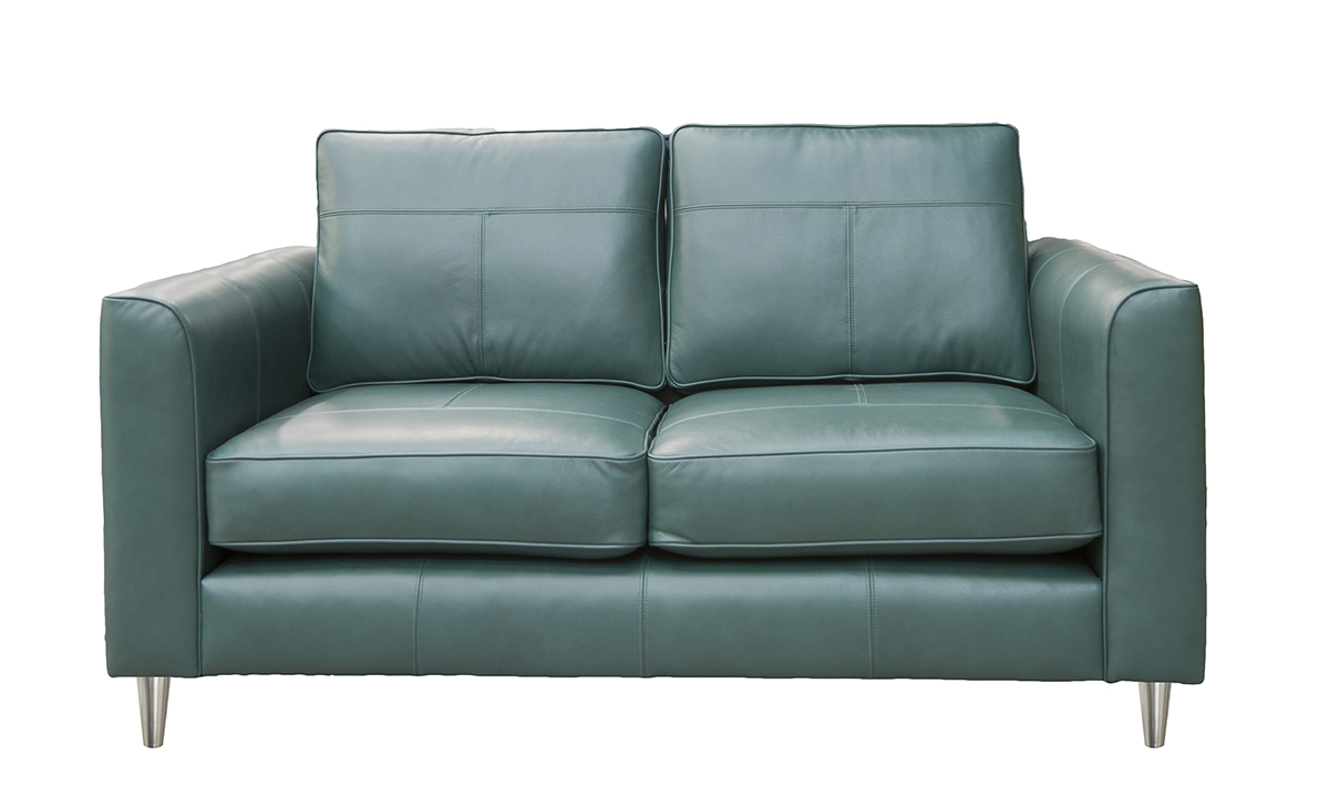 Small Leather Nolan Sofa in Chelsea Emerald