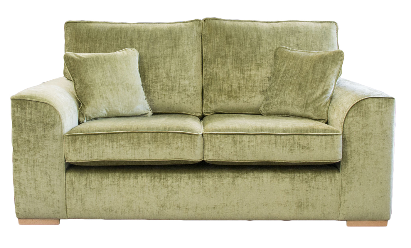 Leon Sofa Bed 4ft6 in Citrus Velvet Gold Collection Fabric
