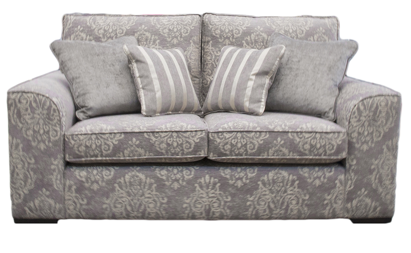 Leon Sofa Bed 4ft6 in Reflex Pattern Ocean  Silver Collection Fabric