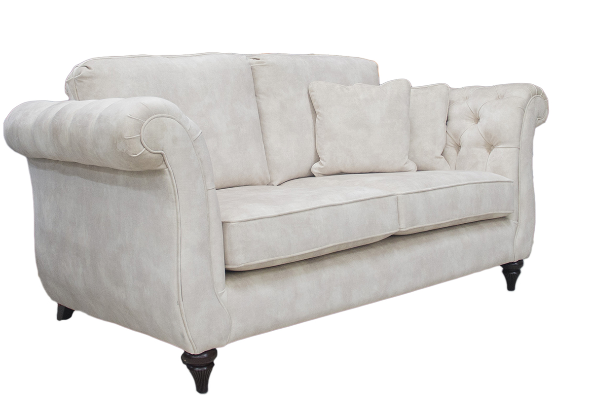 Letrec Small Sofa Side in Lovely Almond Gold Collection Fabric