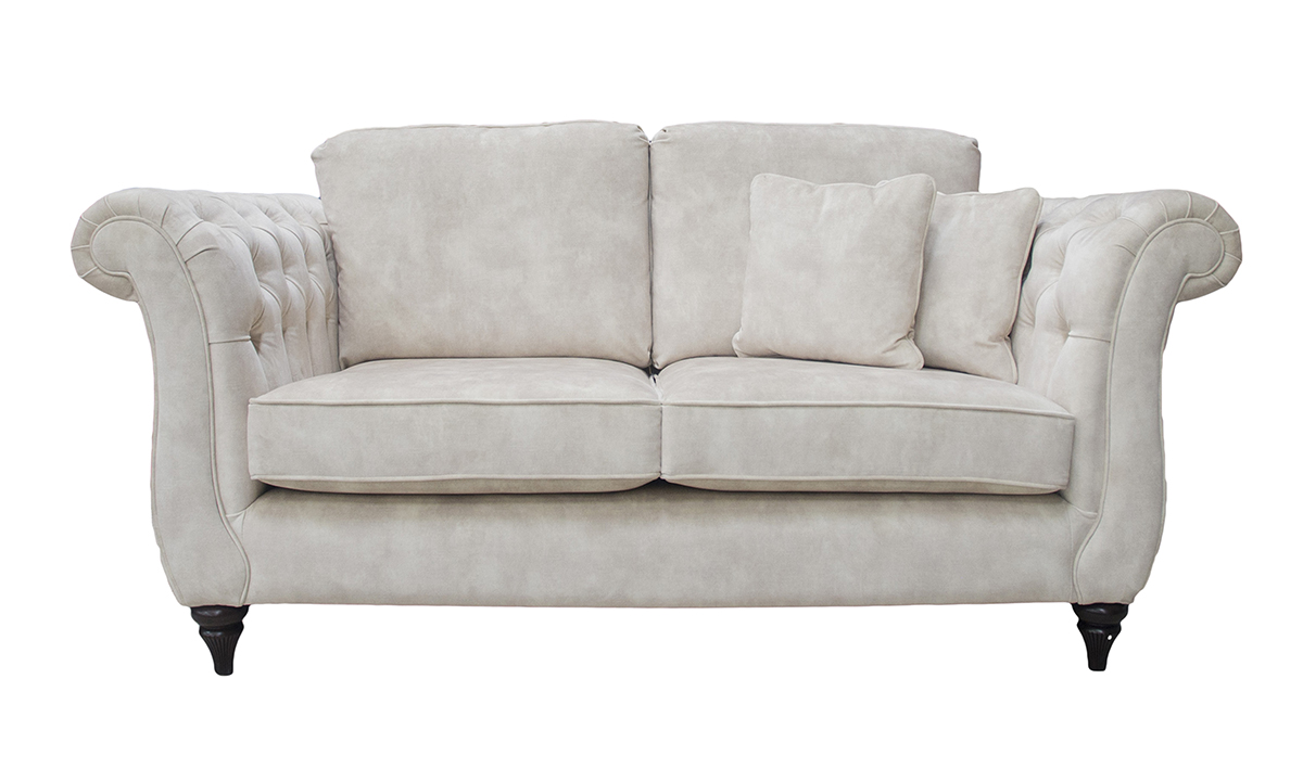 Letrec Small Sofa in Lovely Almond Gold Collection Fabric