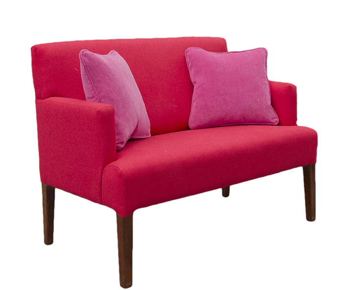 Lisa 2 Seater Bronze Collection San Francisco Red
