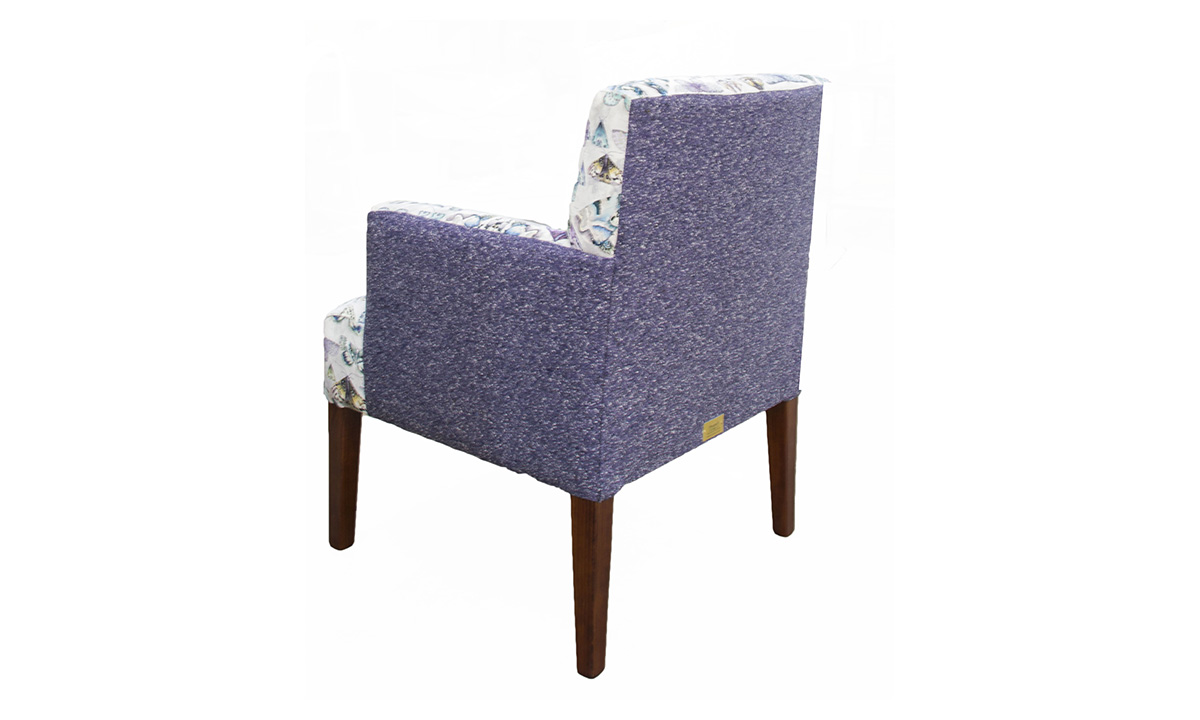 Lisa Chair  in Customers Own Fabric