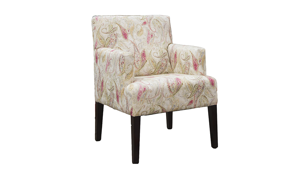 Lisa Chair in Doccia col 3, Gold Collection Fabric