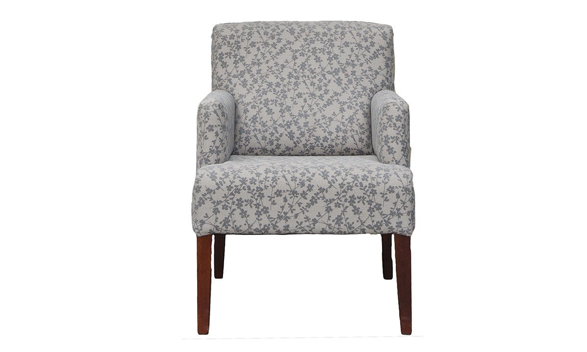 Lisa Chair in Kwint Grey, Silver Collection Fabric