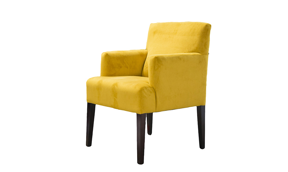 Lisa Chair in Plush Turmeric Gold Collection Fabric