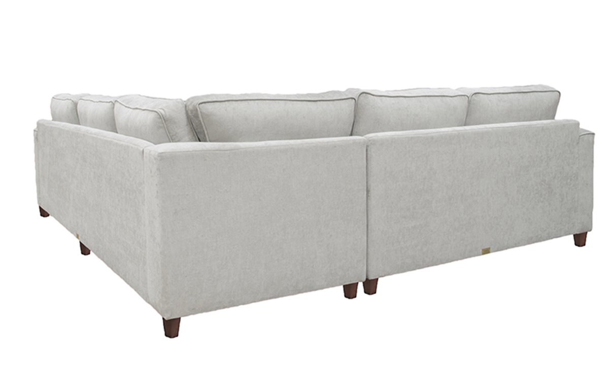 Logan Corner Sofa in Mancini Velvet, Gold Collection Fabric