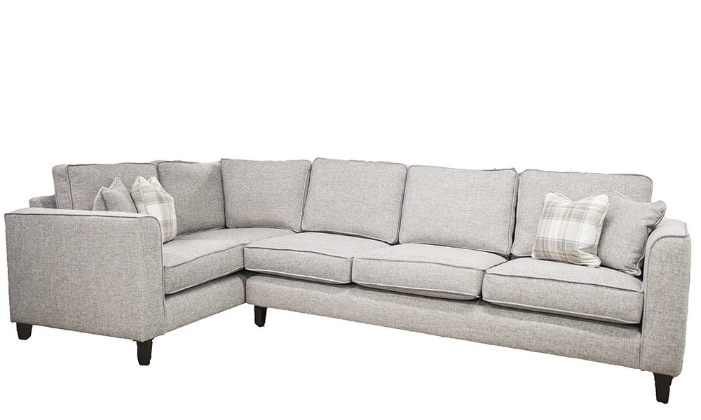 Logan Corner Sofa Milwaukee Grey, Bronze Collection Fabric
