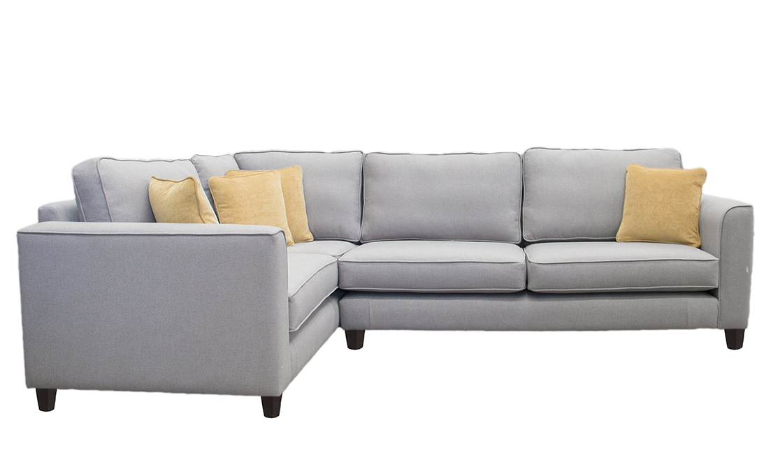 Bespoke Size Logan Corner Sofa in San Francisco Light
