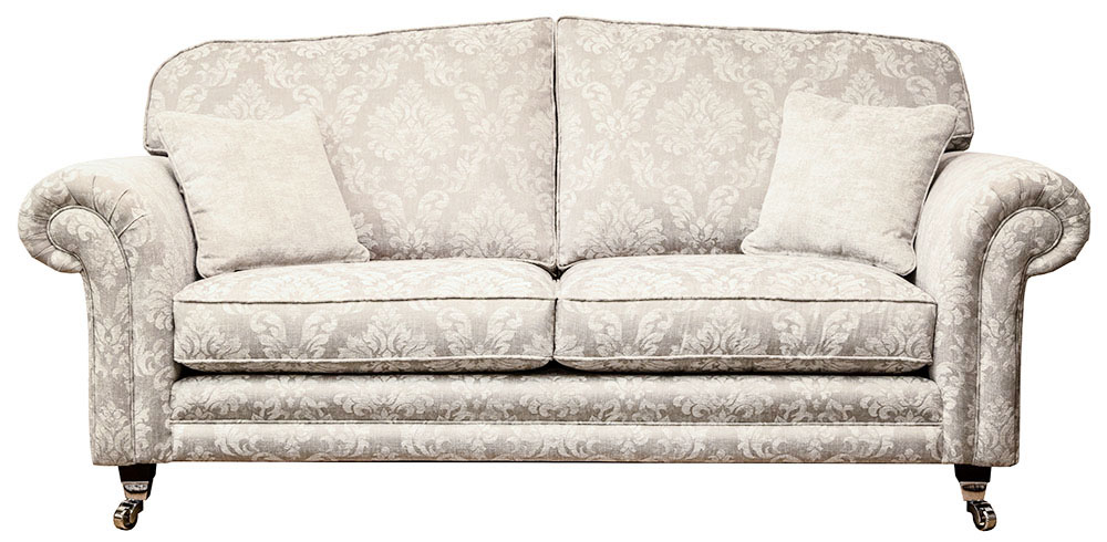 Louis Large Sofa  in Dagano Pattern Chalk Bronze Collection Fabric