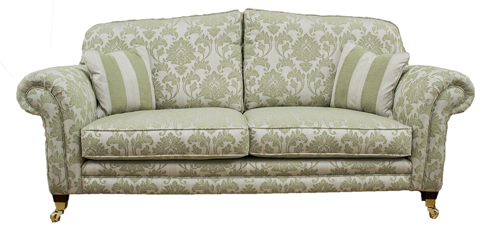 Louis Large Sofa  in Athena Pattern  Silver Collection Fabric