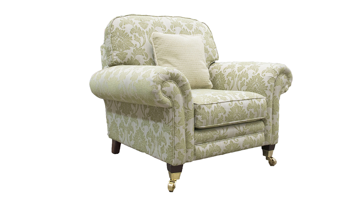 Louis Chair in Discontinued Fabric