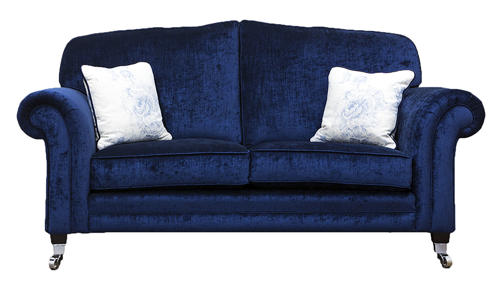 Louis Small Sofa in Mancini Carbon Gold Collection Fabric