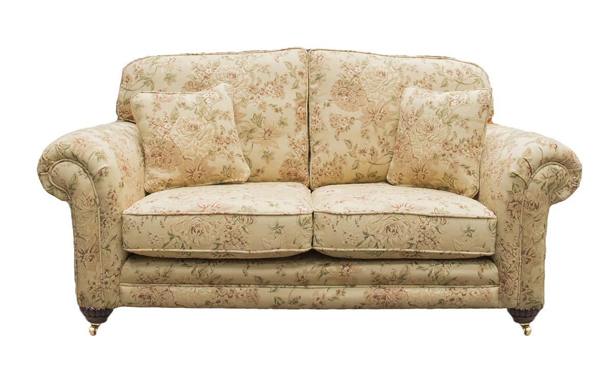 Louis 2 Seater Sofa in Semi Ramis Pattern, Platinum Collection Fabric