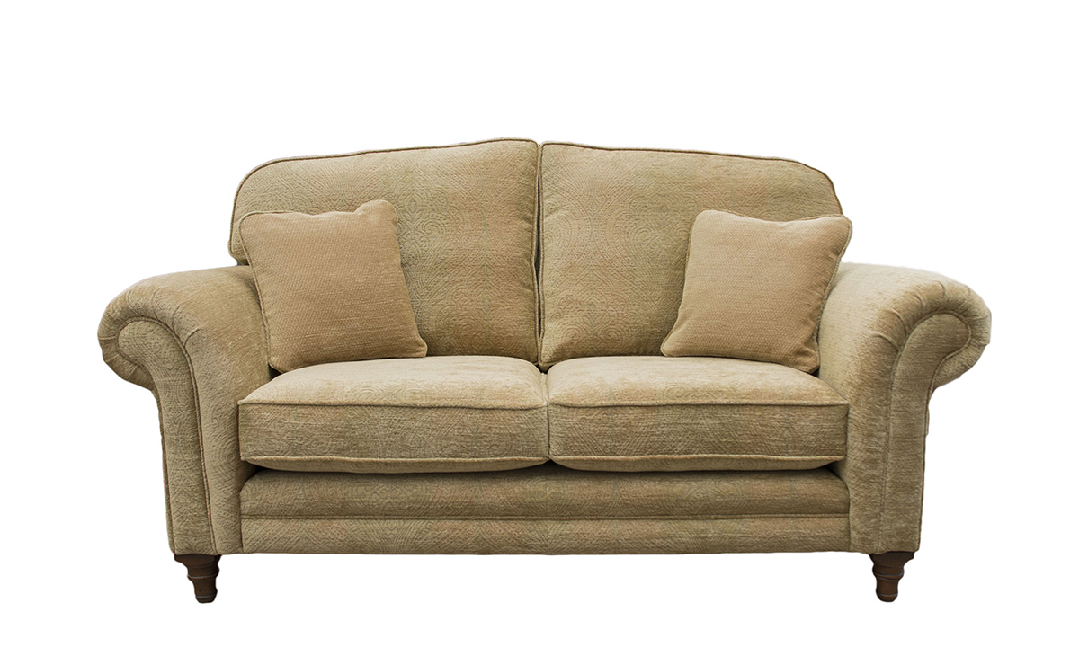 Louis 2 Seater Sofa in a  Bronze Collection Fabric