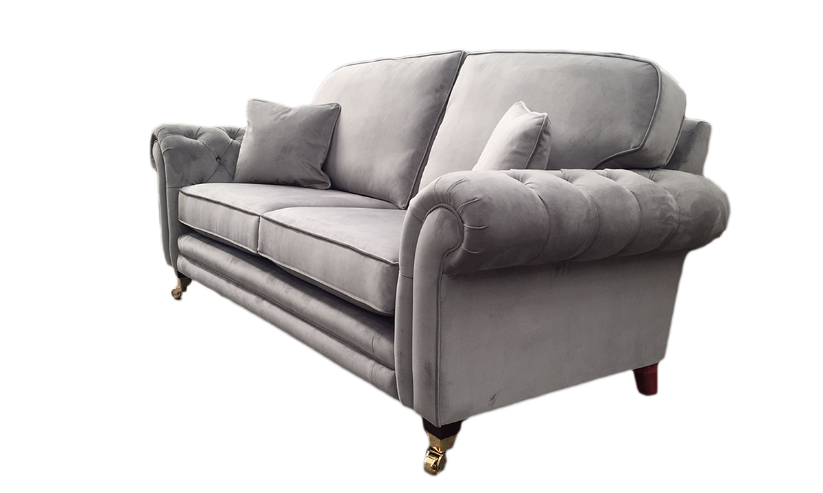 Louis Sofa Bespoke Louis Sofa With Deep Button Arm in Plush SlateButton Arm Side - Plush Slate