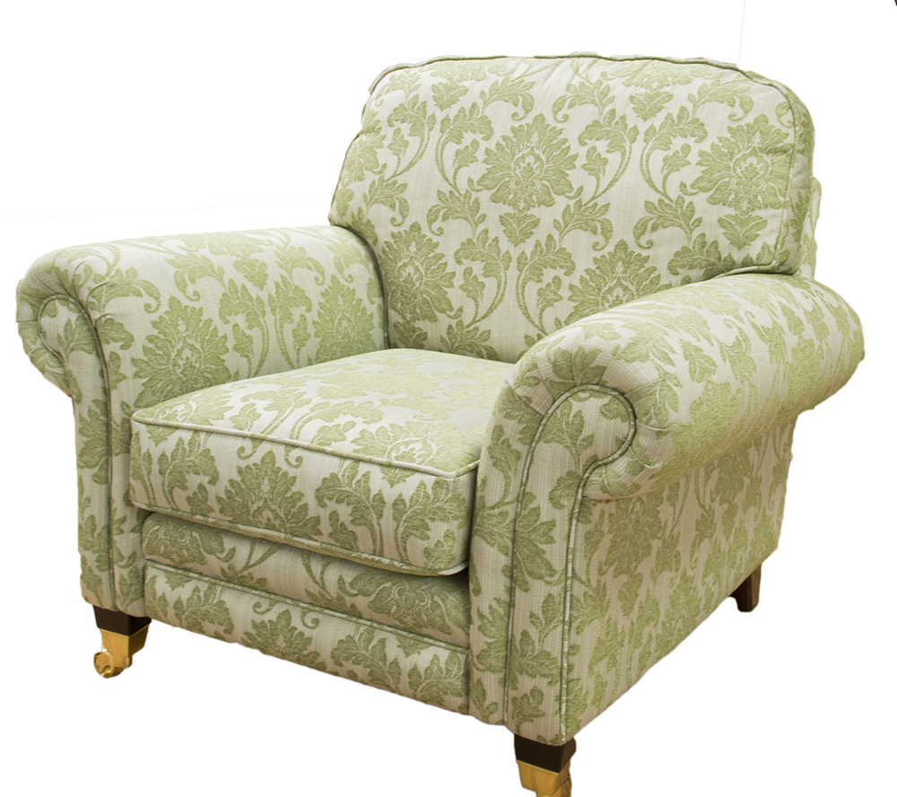 Louis Chair  in Athena Pattern  Silver Collection