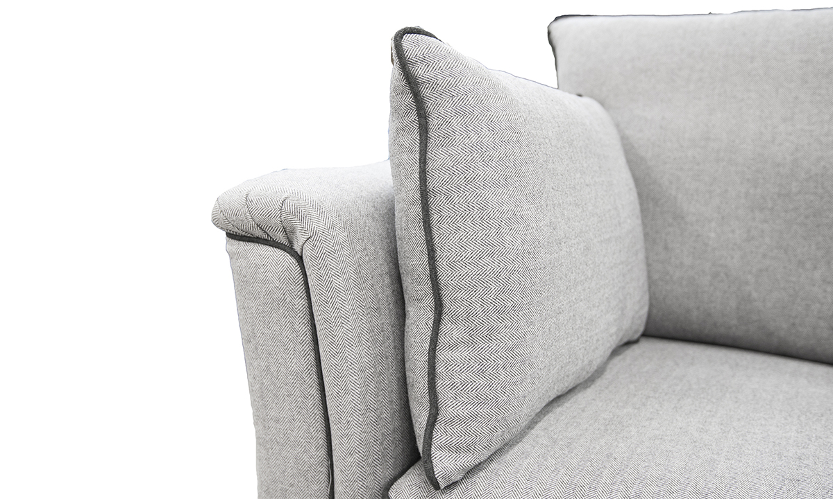 Monroe Arm Detail in Foxford Fabric, Platinum Collection Fabric
