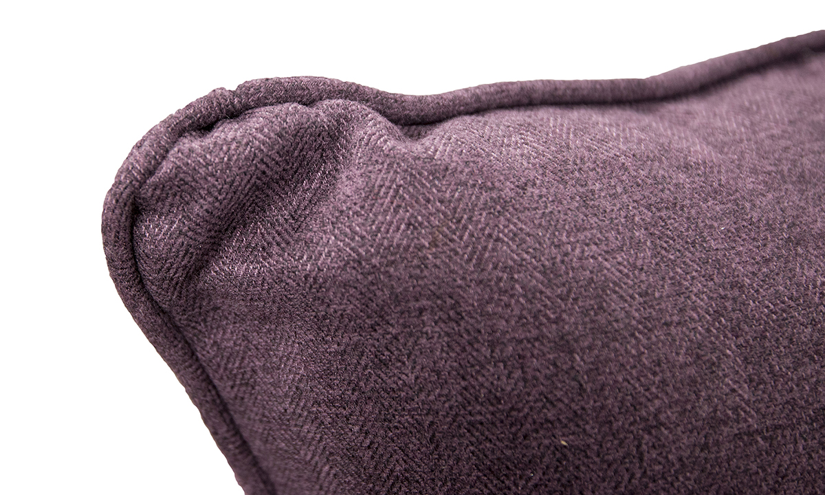 Monroe-Love-Seat-cushion-detail-in-McKenzie-Col-16-Aubergine-Silver-Collection-of-Fabrics
