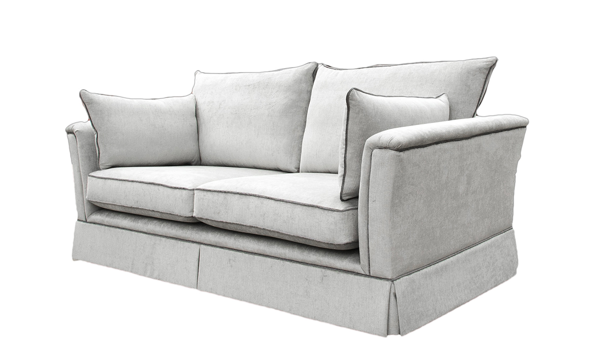 Madison Large Sofa in Edinburgh French Grey, Silver Collection Fabric