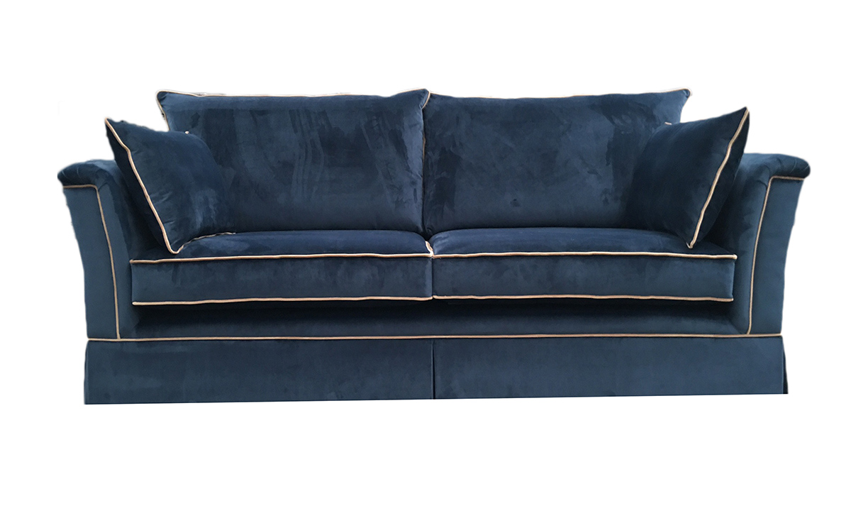 Madison Large Sofa in Luxor Pacific, Silver Collection Fabric