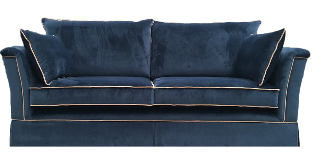 Madison Large Sofa in Luxor Pacific - Contrast Piping