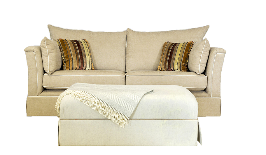 Madison Large & Matching Footstool - Silver Collection