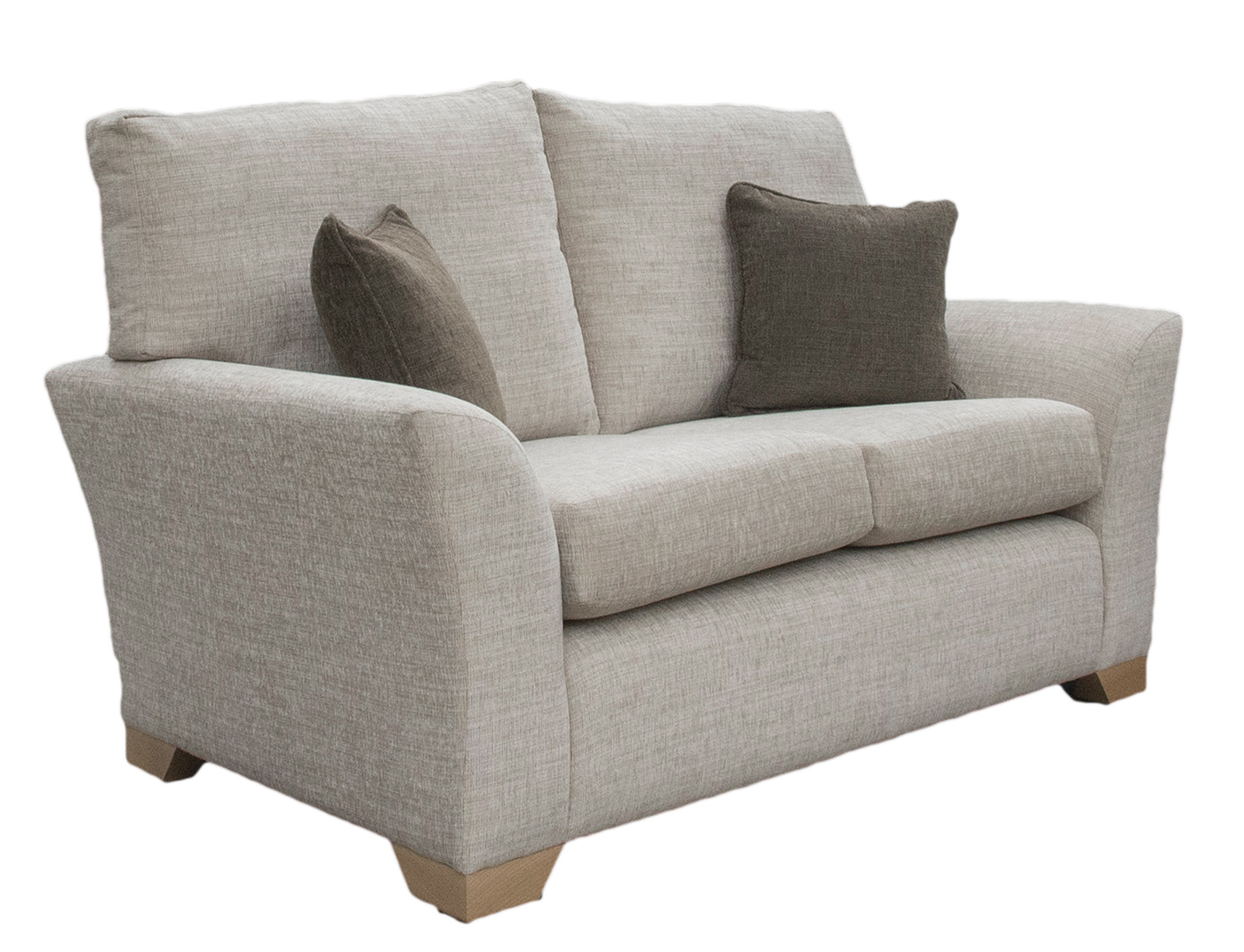 Malton Sofa  Bed 4ft6 in Corrine Beige Bronze CollectionFabric