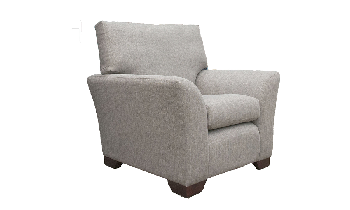 Malton Chair in Aosta Grey, Silver Collection Fabric