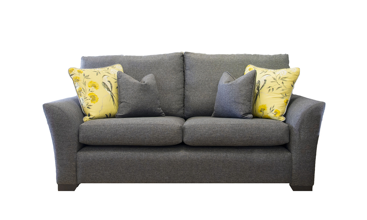 Malton 3 Seater Sofa  in Ado Coal, Bronze Collection Fabric