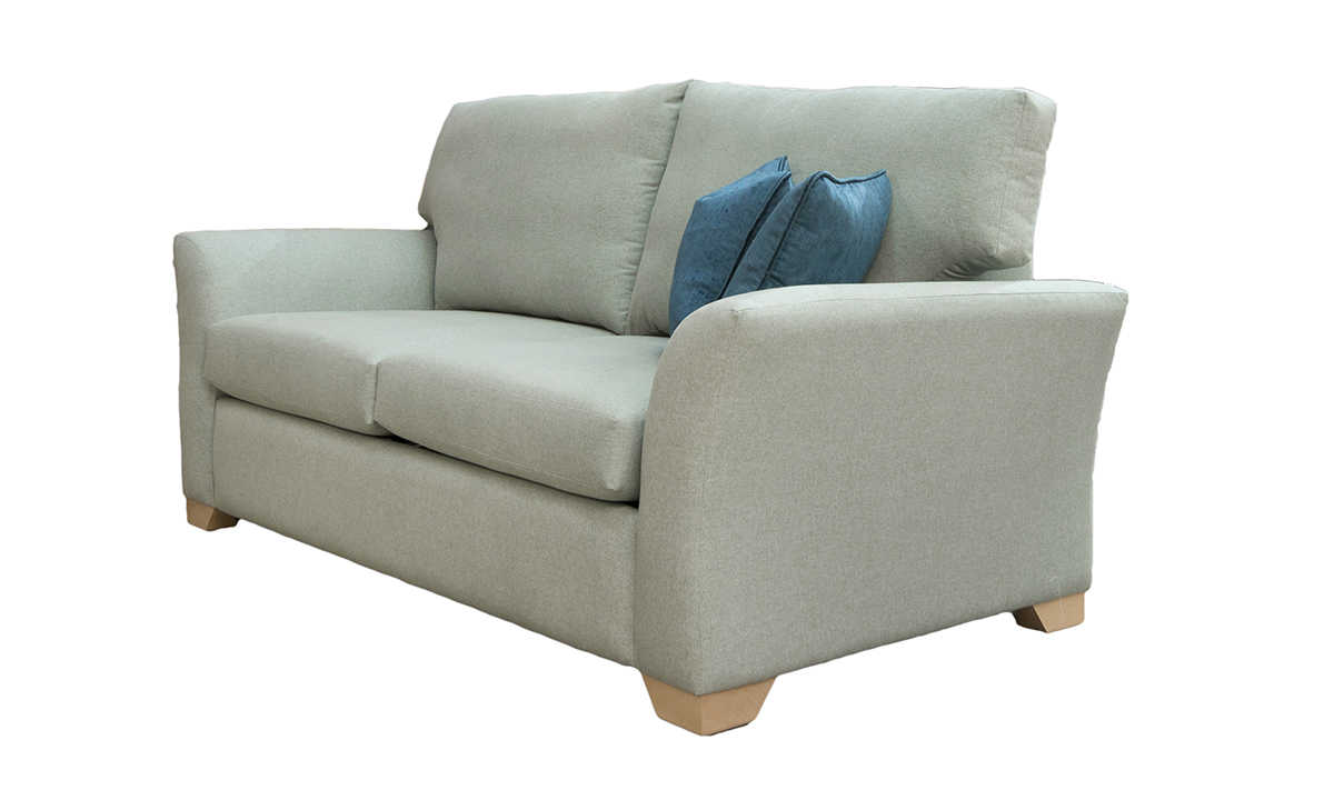 Malton Sofa Bed Side in Shetland Aqua Bronze Collection Fabric