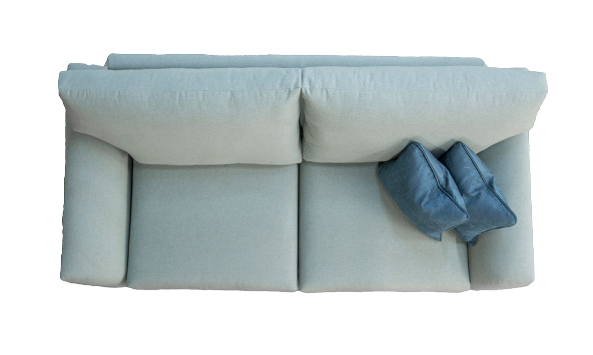 Malton Sofa Bed Top View in Shetland Aqua Bronze Collection Fabric