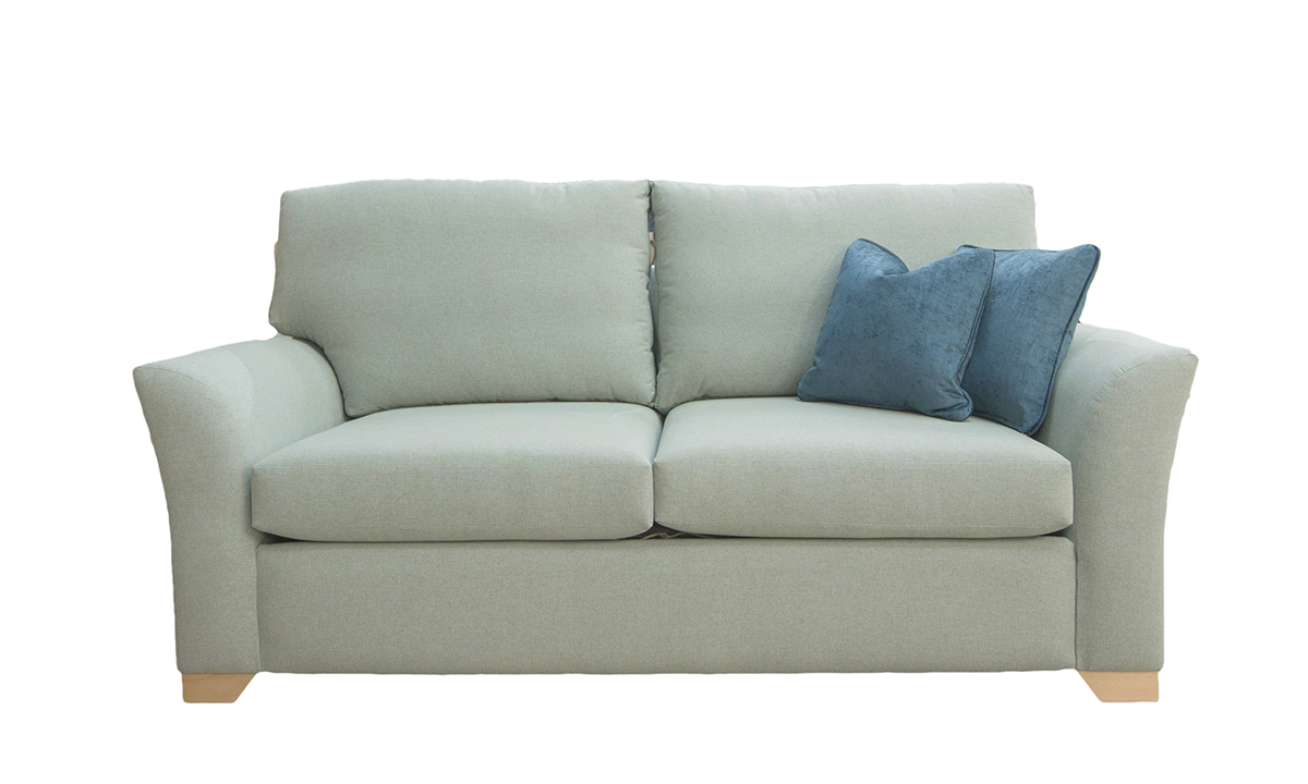 Malton 3 Seater Sofa in Shetland Aqua Bronze Collection Fabric