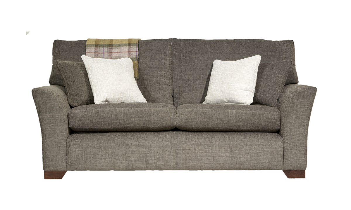 Malton 3 Seater Sofa in Corrine Charcoal, Bronze Collection Fabric