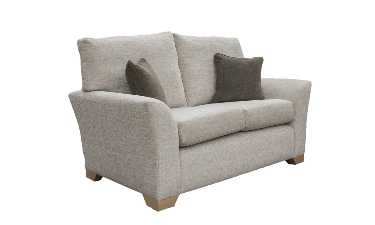 Malton 2 Seater Sof in Corrine Beige, Bronze Collection Fabric