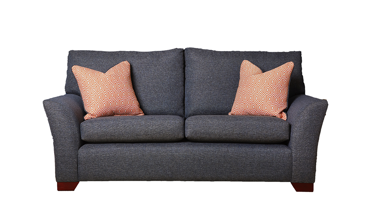 Malton 3 Seater Sofa in Ado Marine Bronze Collection Fabric