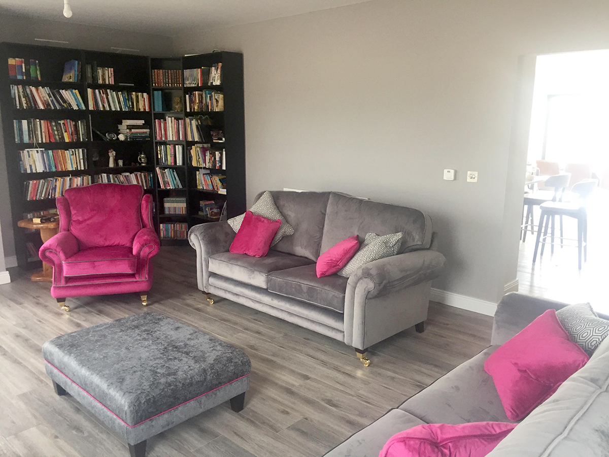 Alexandra Chair, Louis Sofas & Ottoman