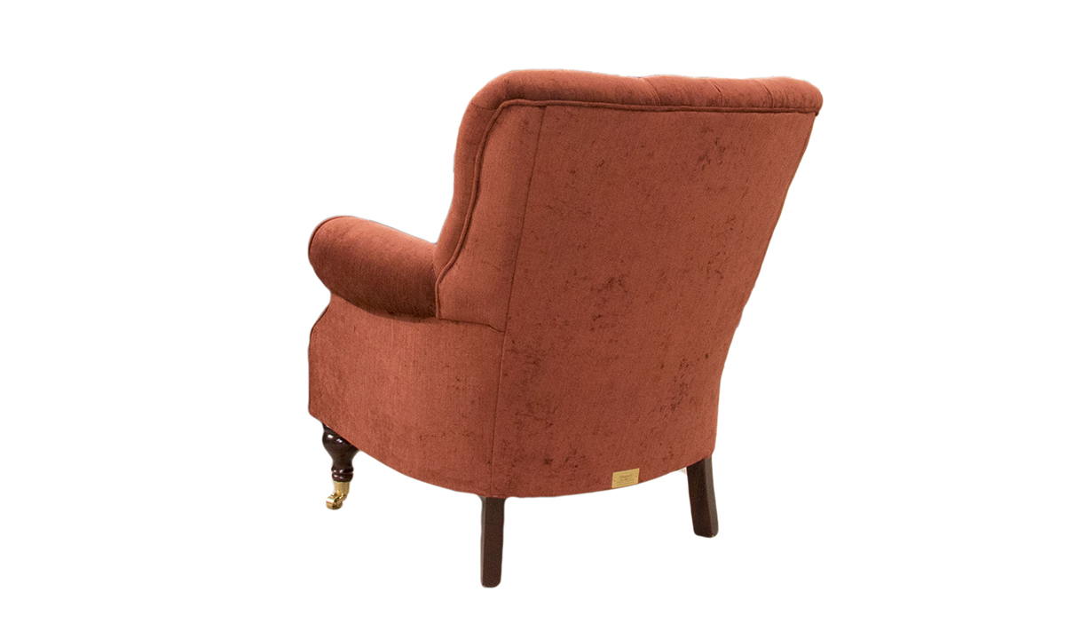 Matisse Deep Button Back Chair in a Silver Collection Fabric