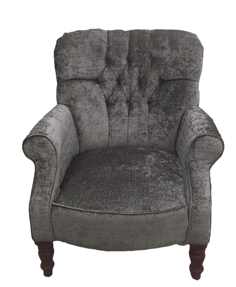 Deep Buttoned Back Matisse Chair - Bronze Collection