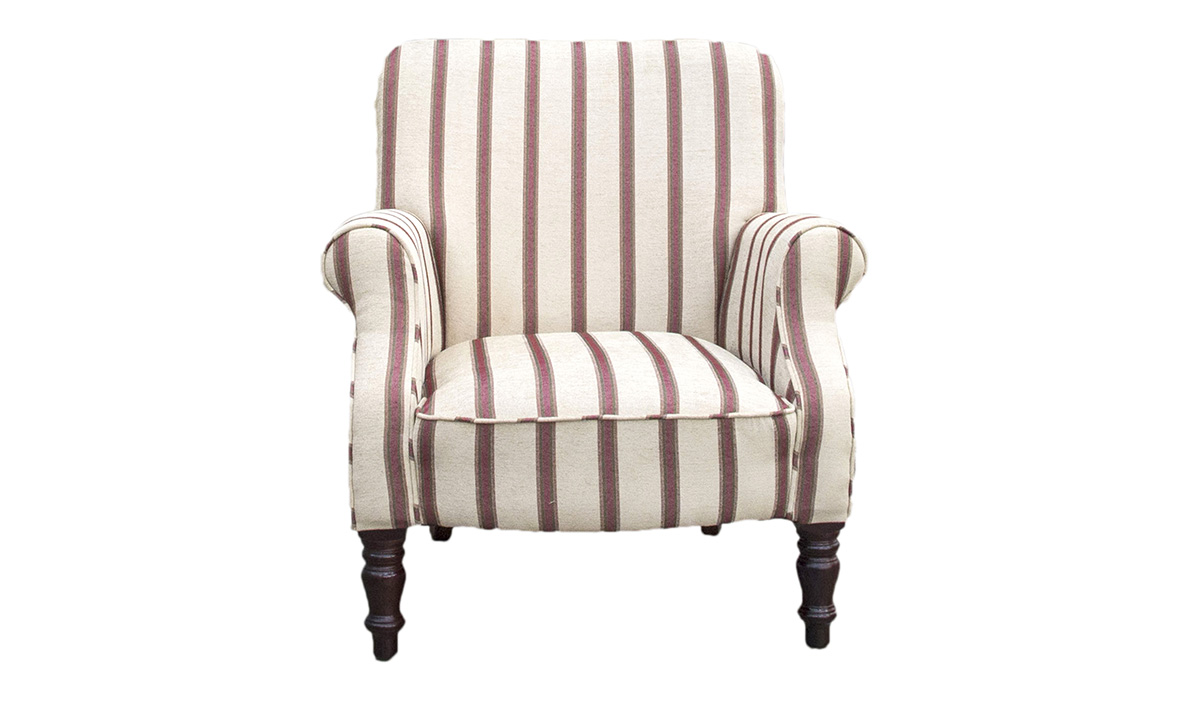 Matisse Chair in Seldon Stripe, Gold Collection Fabric