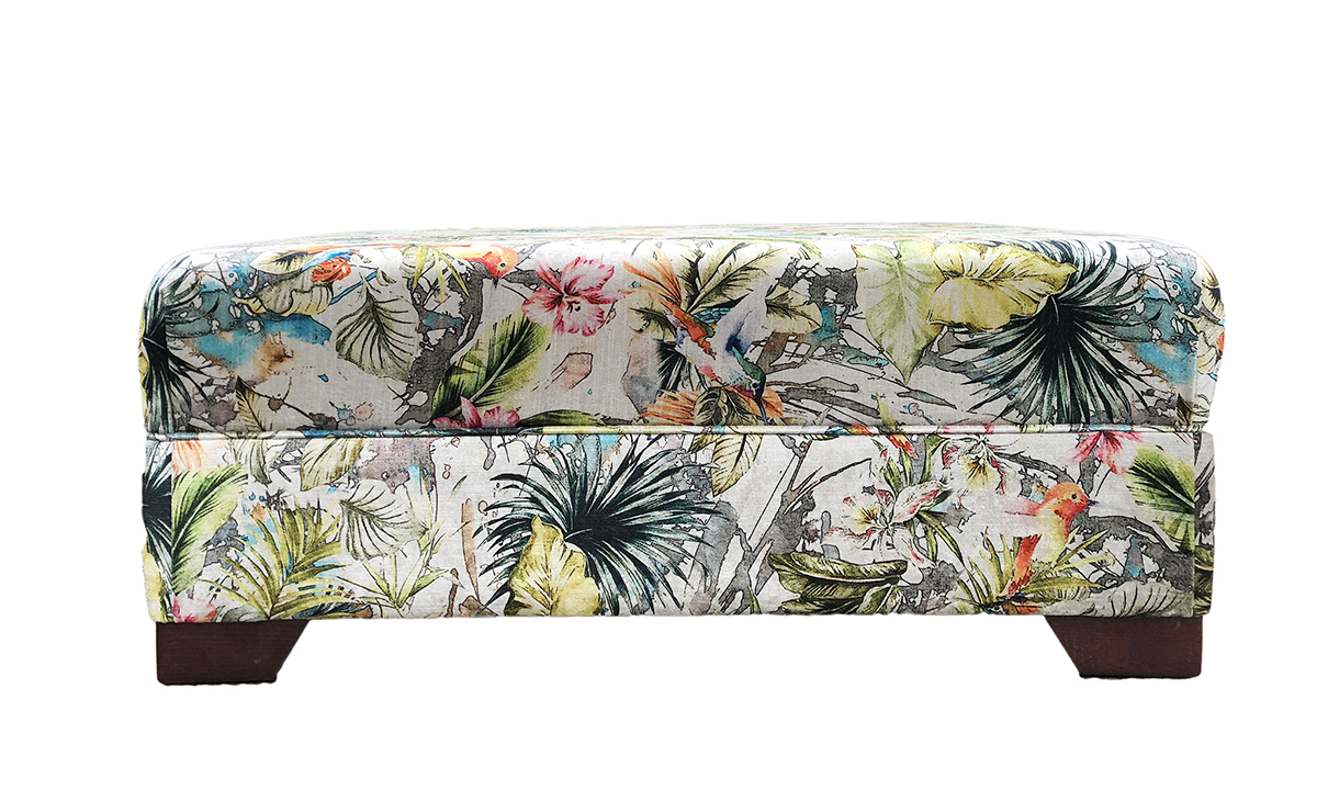 Monroe Footstool in Paradise Multi