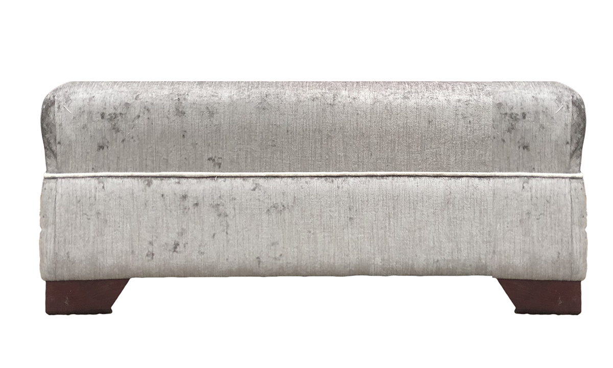 Monroe Footstool in Edinburgh French Grey, Silver Collection Fabric