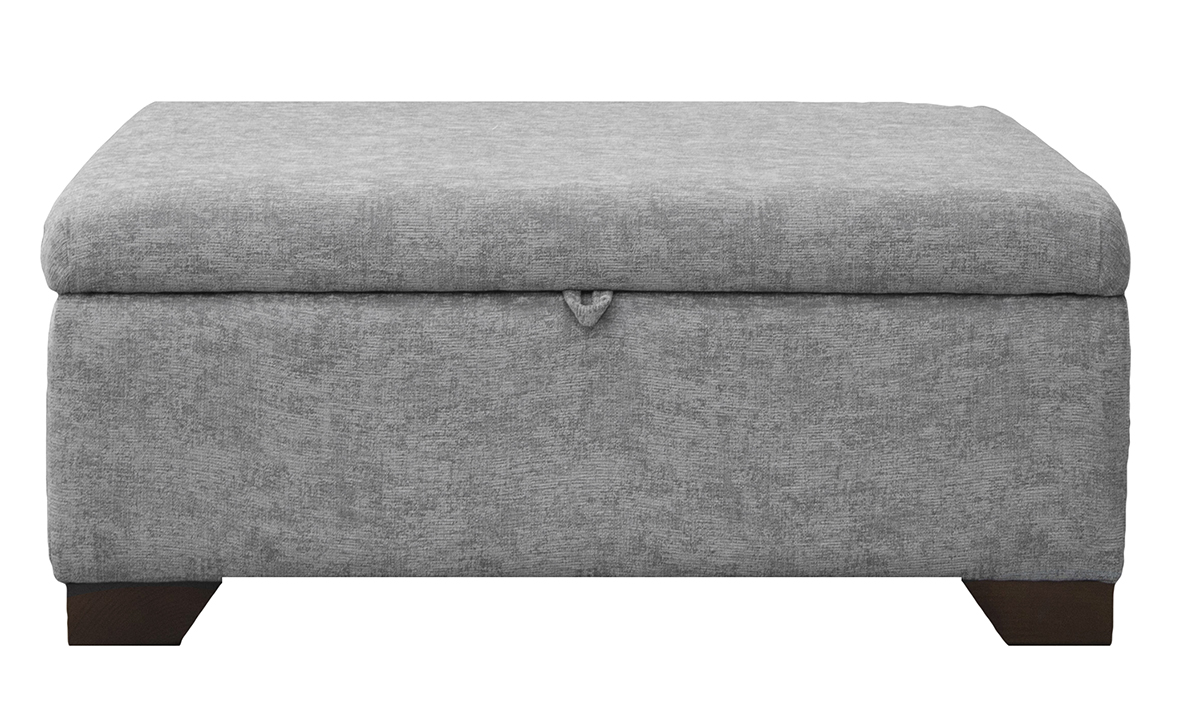 Storage Monroe Foostool in Dagano Plain Noir Bronze Collection Fabric