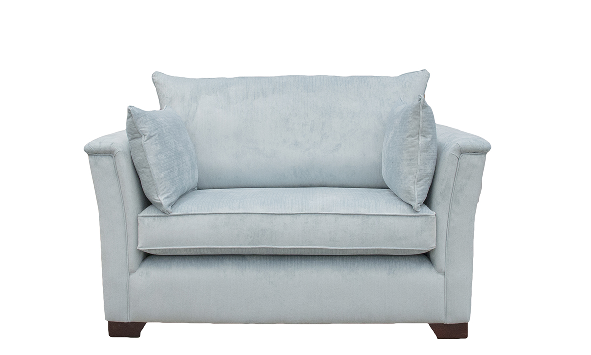 Madison Love Seat in Platinum Collection Velvet