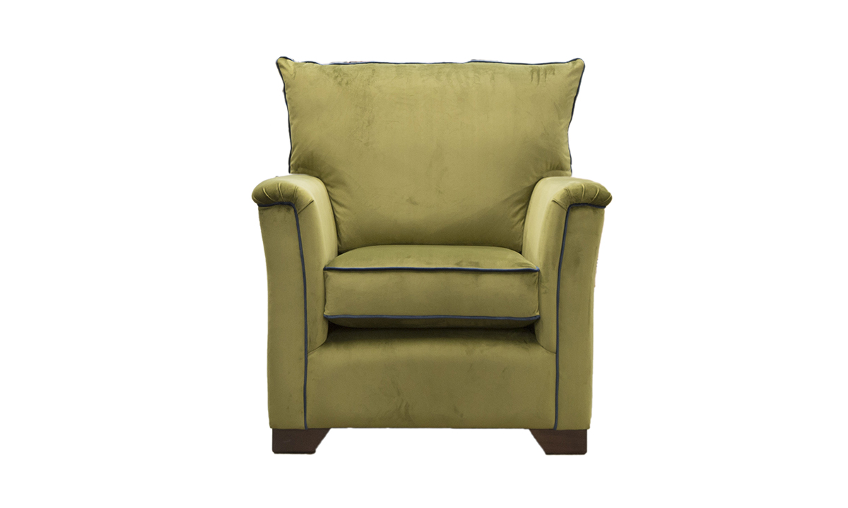 Monroe Chair in Luxor Artichoke Silver Collection Fabric