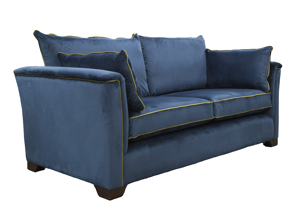 Monroe Large Sofa Side in Luxor Pacific Silver Collection