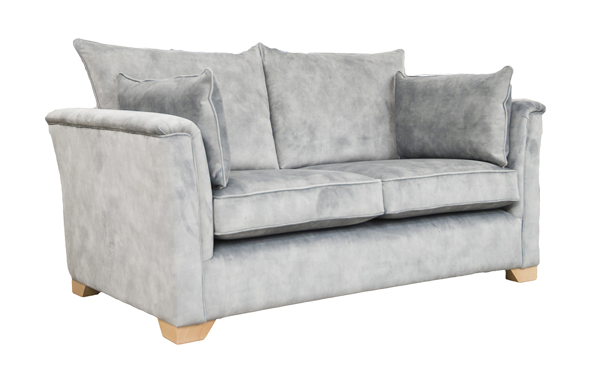 Monroe Small Sofa in Lovely Slate, Gold Collection Fabric