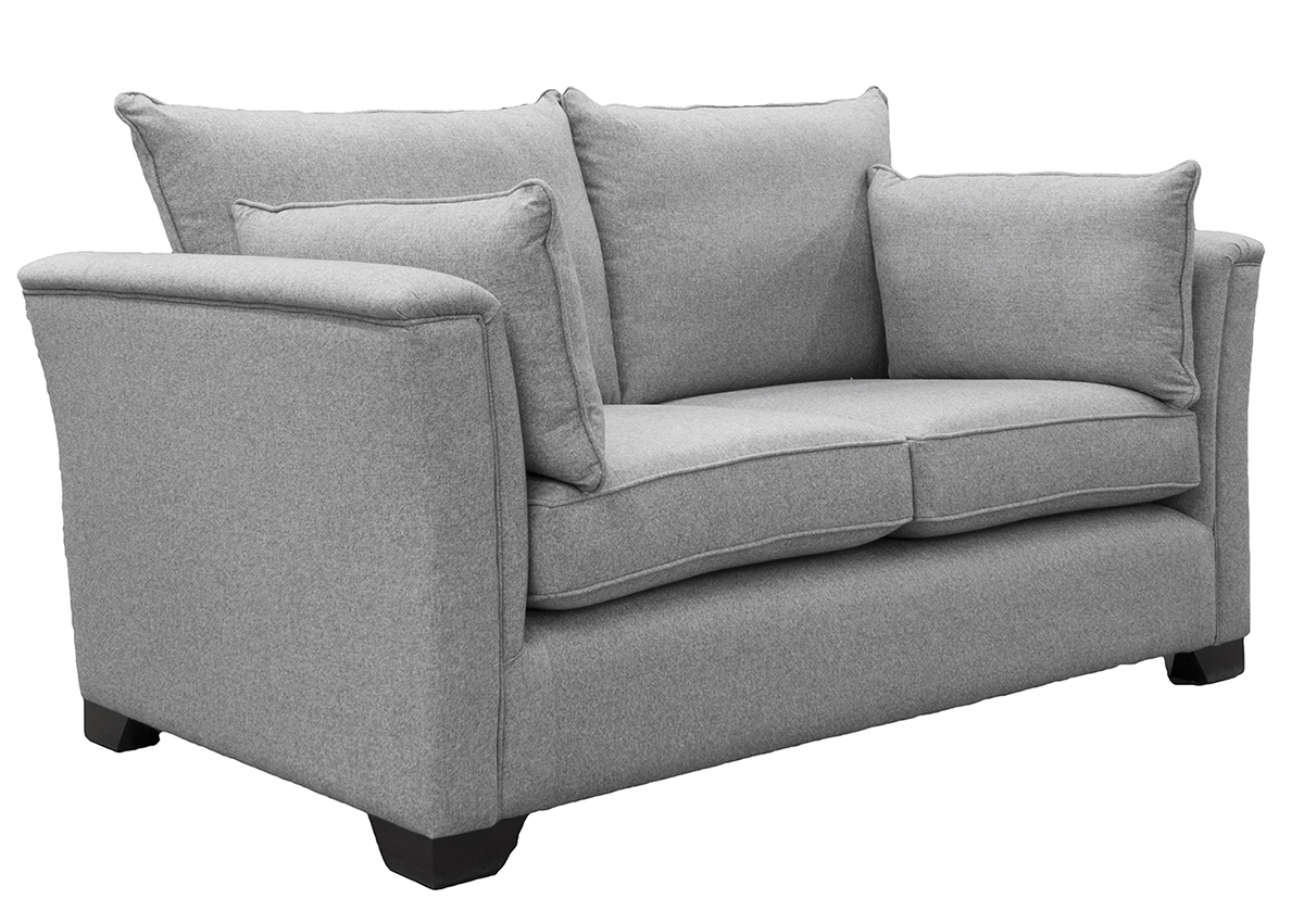 Monroe Small Sofa Side in Tweed Gallant Silver Collection