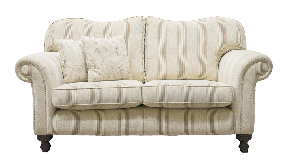 Newbury Large Sofa in Eustacy Stripe Silver Collection Fabric