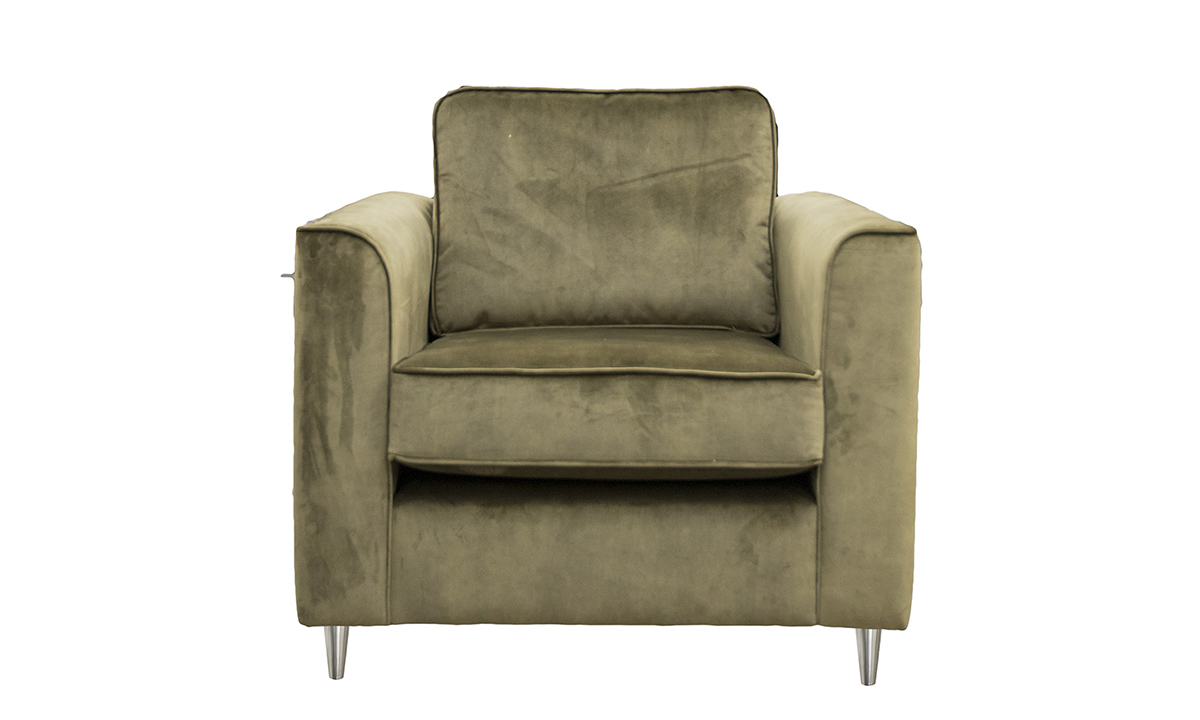 Nolan Chair in Lovely Moss, Gold Collection Fabric
